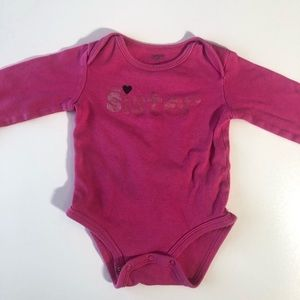 FREE WITH ITEM OVER $10! Little sister 9 month top